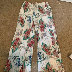 Soft Floral Pants